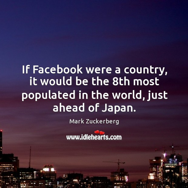 Image, If Facebook were a country, it would be the 8th most populated