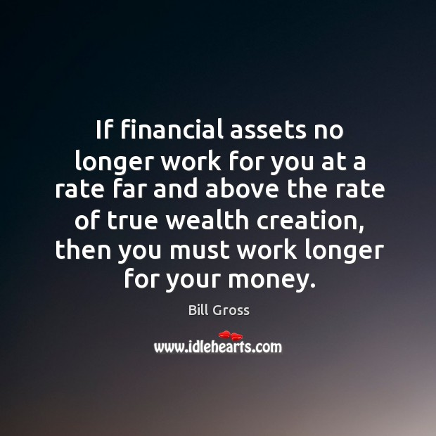 If financial assets no longer work for you at a rate far Bill Gross Picture Quote