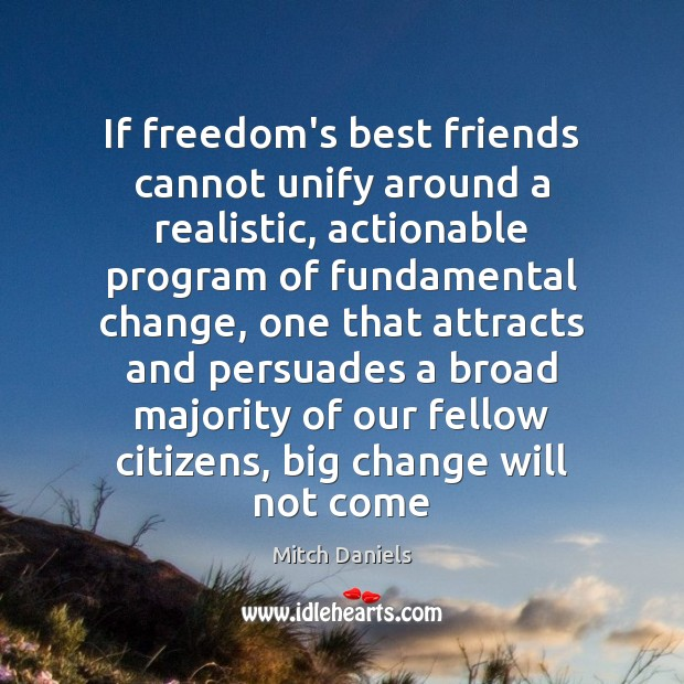 Image, If freedom's best friends cannot unify around a realistic, actionable program of