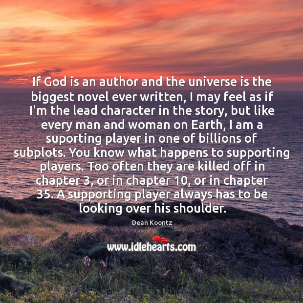 If God is an author and the universe is the biggest novel Image