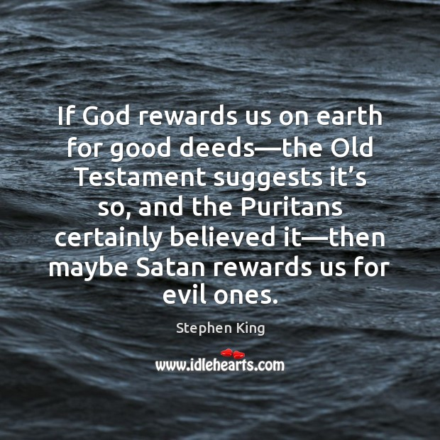 Image, If God rewards us on earth for good deeds—the Old Testament