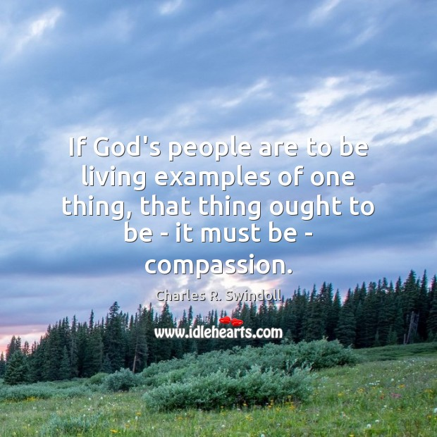 If God's people are to be living examples of one thing, that Image