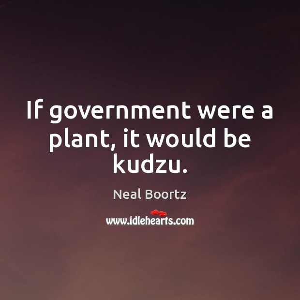 If government were a plant, it would be kudzu. Neal Boortz Picture Quote