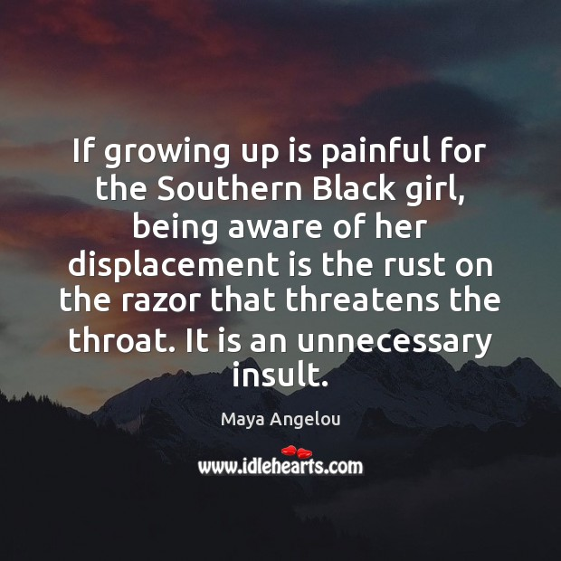 Image, If growing up is painful for the Southern Black girl, being aware