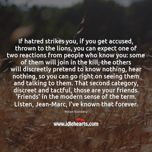 If hatred strikes you, if you get accused, thrown to the lions, Image