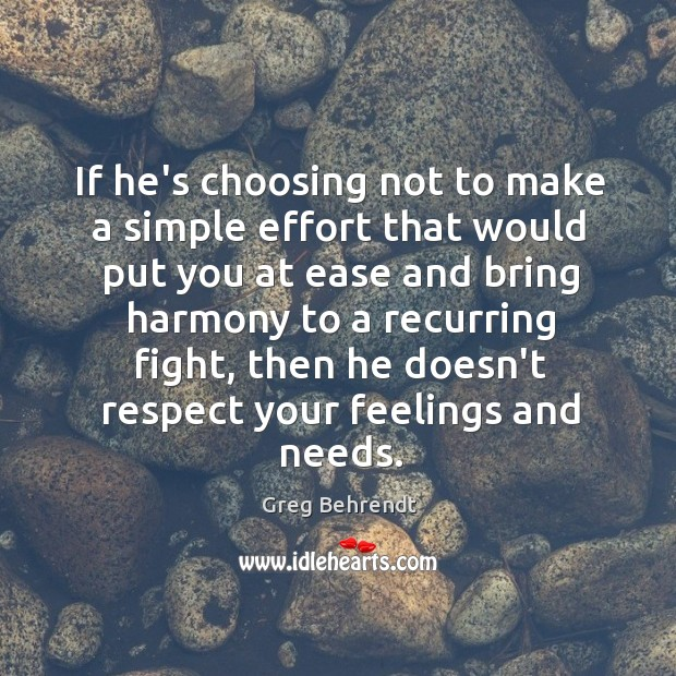 If he's choosing not to make a simple effort that would put Image