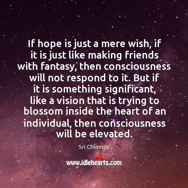 If hope is just a mere wish, if it is just like Image