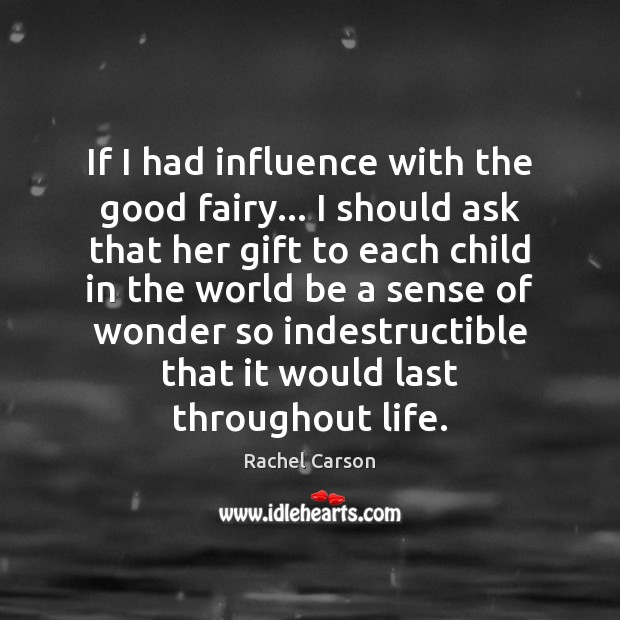 Image, If I had influence with the good fairy… I should ask that