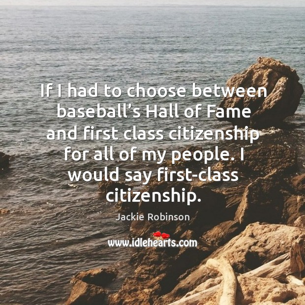 If I had to choose between baseball's Hall of Fame and Image