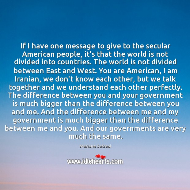 If I have one message to give to the secular American people, Image