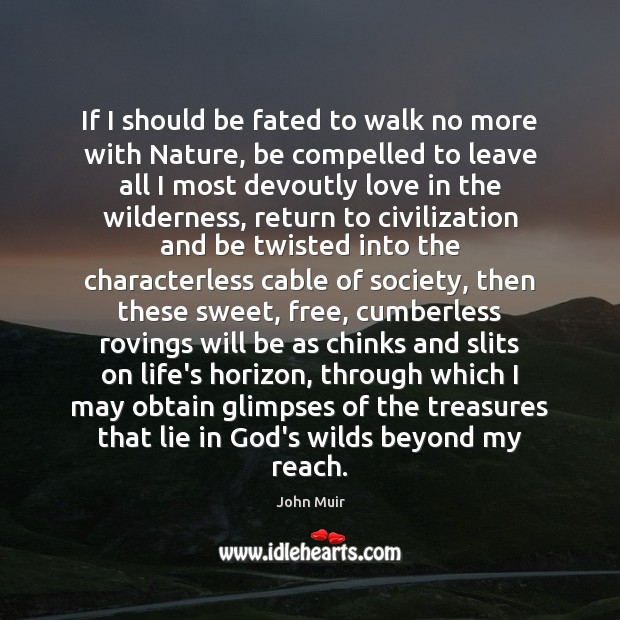 If I should be fated to walk no more with Nature, be Image