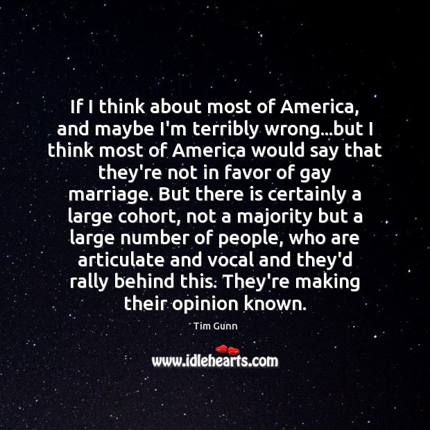 If I think about most of America, and maybe I'm terribly wrong… Image