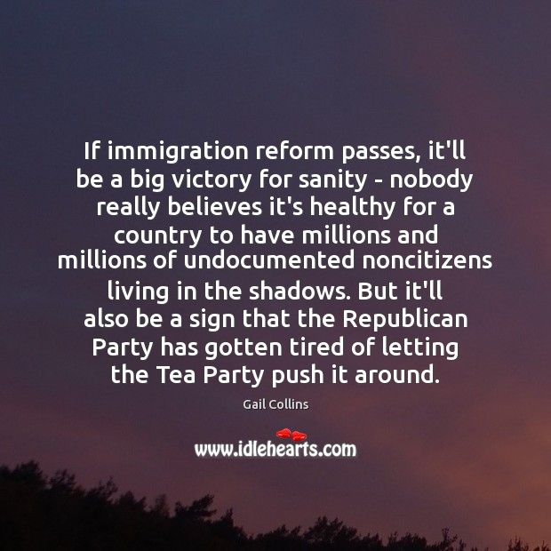 Image about If immigration reform passes, it'll be a big victory for sanity –