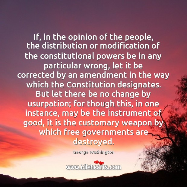 If, in the opinion of the people, the distribution or modification of Image