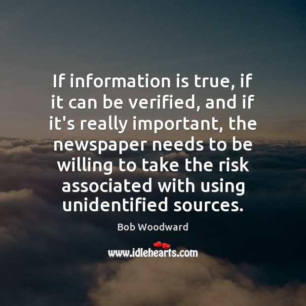 Image, If information is true, if it can be verified, and if it's