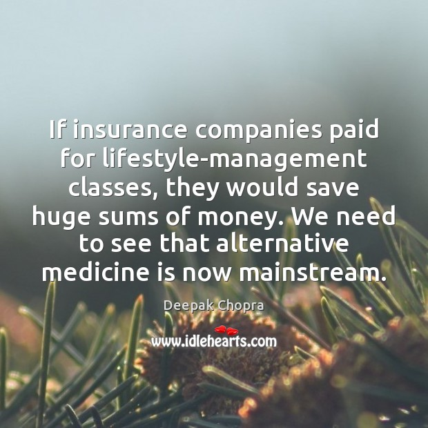 If insurance companies paid for lifestyle-management classes, they would save huge sums Image