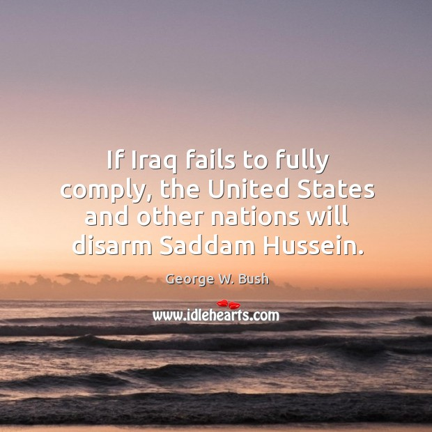 Image, If Iraq fails to fully comply, the United States and other nations