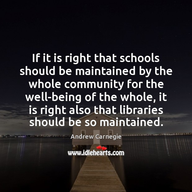Image, If it is right that schools should be maintained by the whole