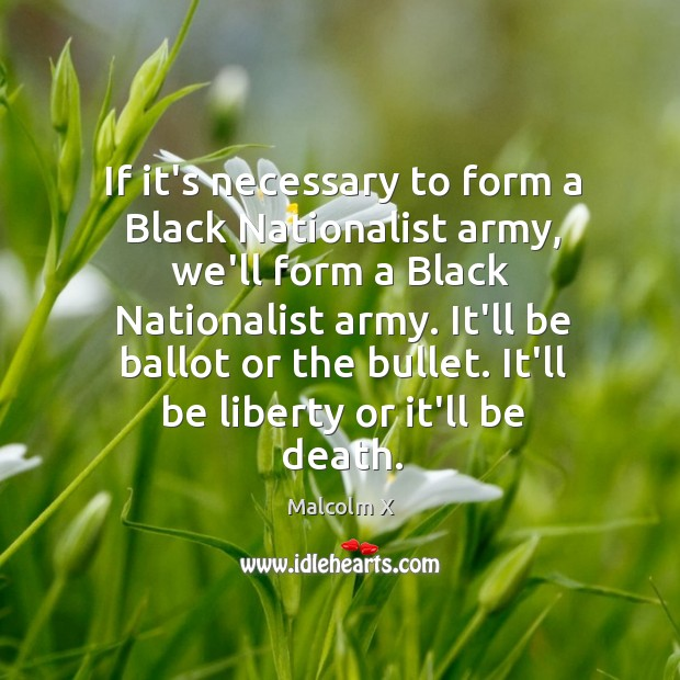 Image, If it's necessary to form a Black Nationalist army, we'll form a
