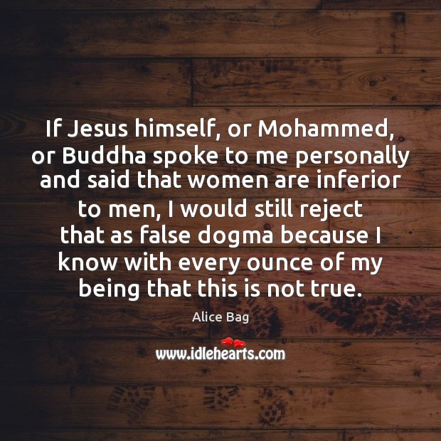Image, If Jesus himself, or Mohammed, or Buddha spoke to me personally and