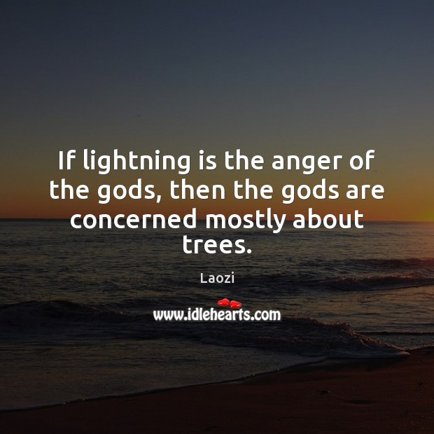 Image, If lightning is the anger of the Gods, then the Gods are concerned mostly about trees.