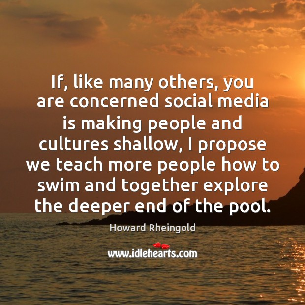 If, like many others, you are concerned social media is making people Image