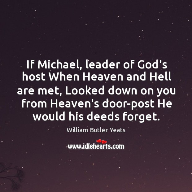 If Michael, leader of God's host When Heaven and Hell are met, Image