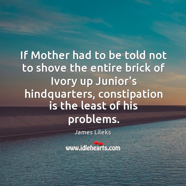 Image, If Mother had to be told not to shove the entire brick
