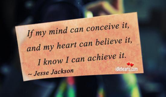 I Know I Can Achieve it