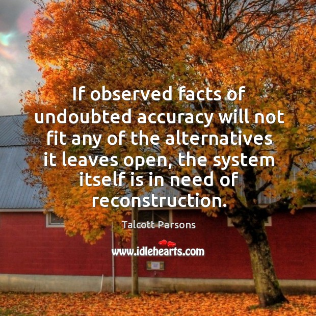If observed facts of undoubted accuracy will not fit any of the alternatives it leaves open Image