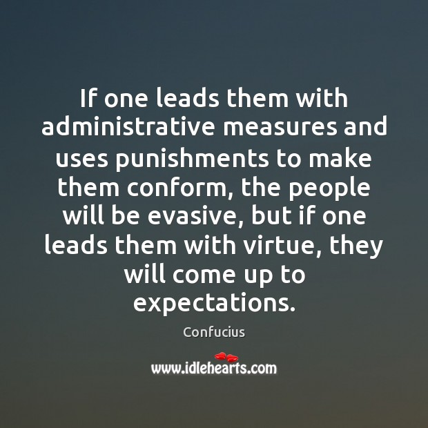 If one leads them with administrative measures and uses punishments to make Image