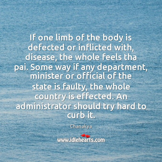 Image, If one limb of the body is defected or inflicted with, disease,