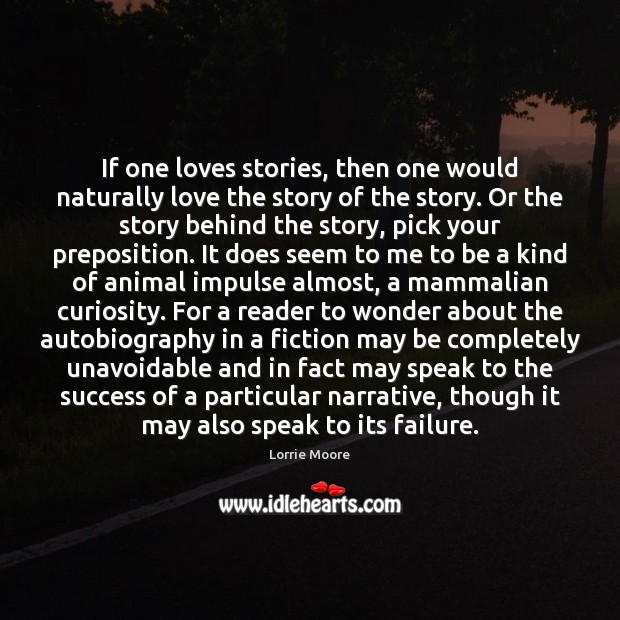 If one loves stories, then one would naturally love the story of Image