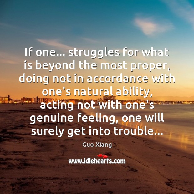 Image, If one… struggles for what is beyond the most proper, doing not
