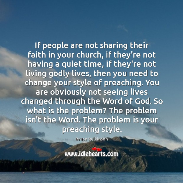 If people are not sharing their faith in your church, if they're Image