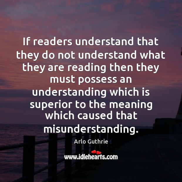 If readers understand that they do not understand what they are reading Image