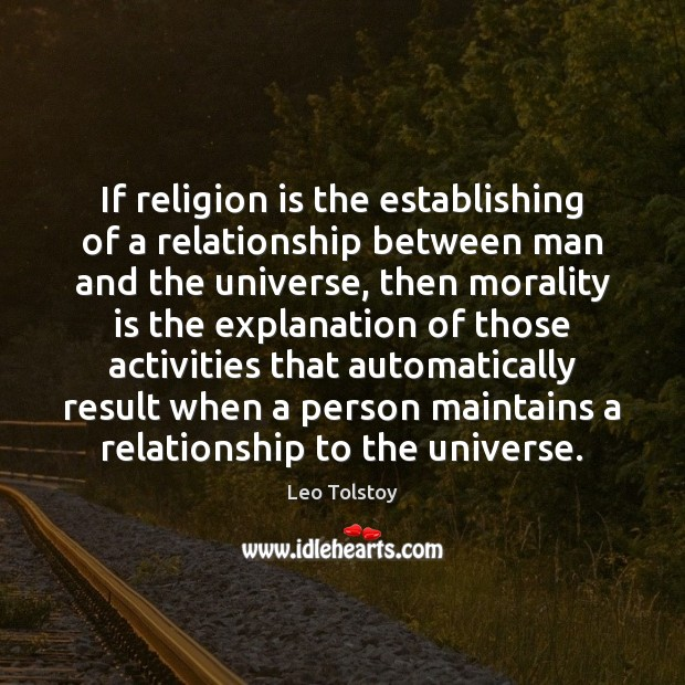 If religion is the establishing of a relationship between man and the Image