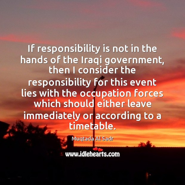 it is the responsibility of government