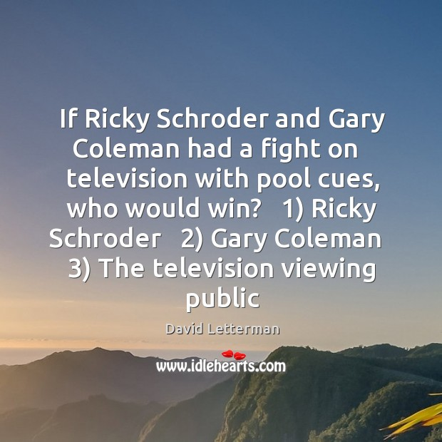 Image, If Ricky Schroder and Gary Coleman had a fight on   television with