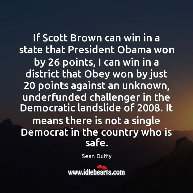 If Scott Brown can win in a state that President Obama won Image