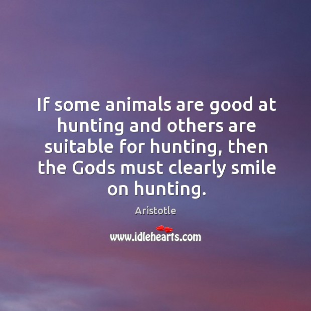 Image, If some animals are good at hunting and others are suitable for