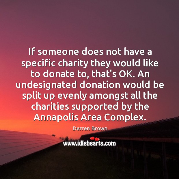 Image, If someone does not have a specific charity they would like to