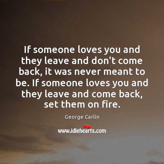 If someone loves you and they leave and don't come back, it Image