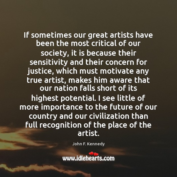 Image, If sometimes our great artists have been the most critical of our