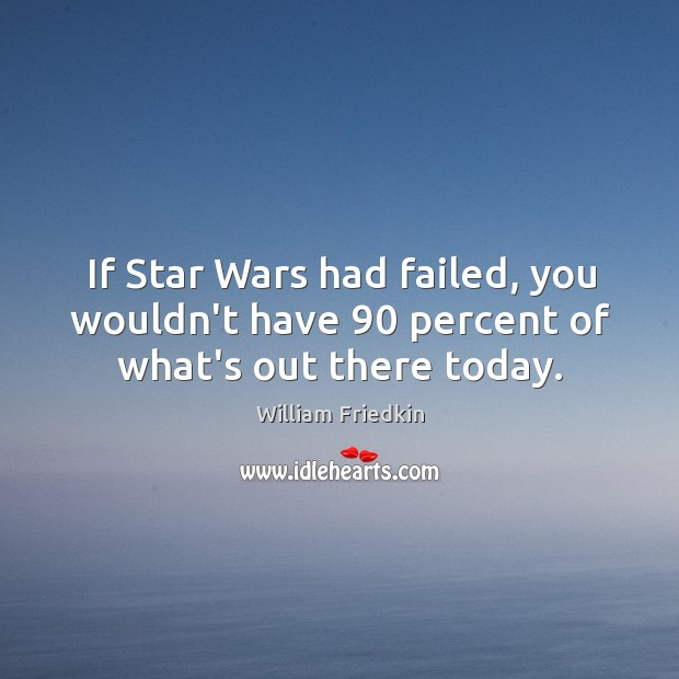 If Star Wars had failed, you wouldn't have 90 percent of what's out there today. Image