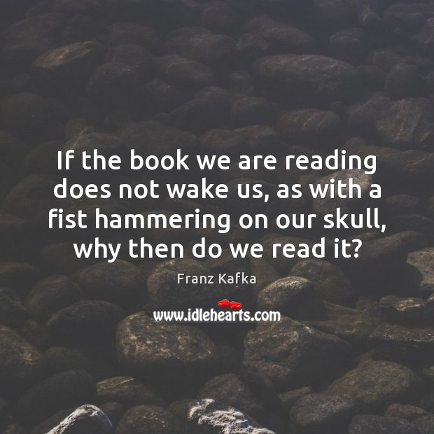 If the book we are reading does not wake us, as with Image