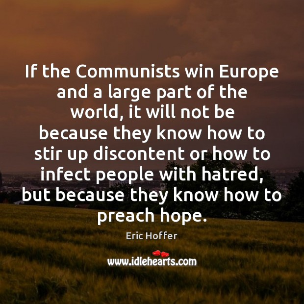 If the Communists win Europe and a large part of the world, Image