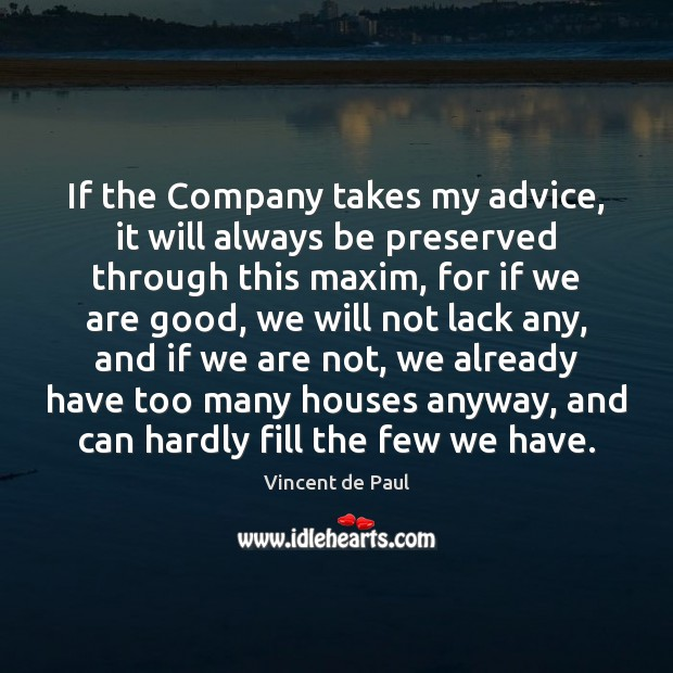 Image, If the Company takes my advice, it will always be preserved through