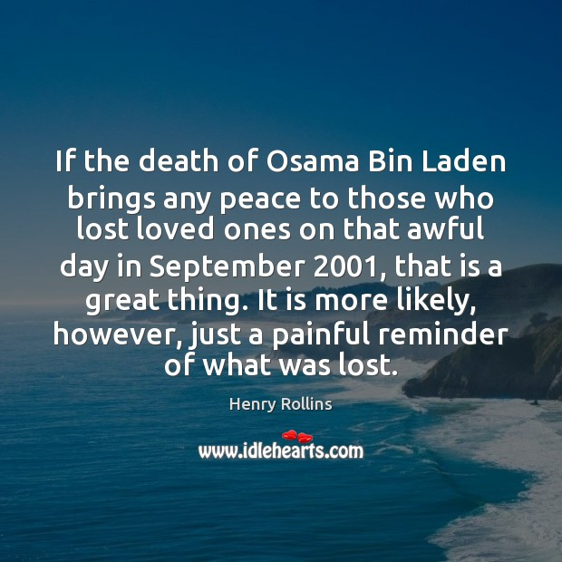 Image, If the death of Osama Bin Laden brings any peace to those
