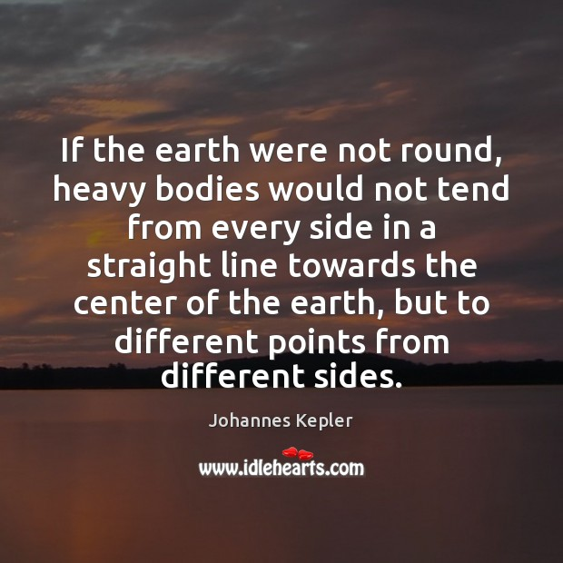 Image, If the earth were not round, heavy bodies would not tend from